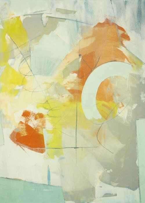 Abstract Painting Greeting Card featuring the painting Resonance C2012 by Paul Ashby
