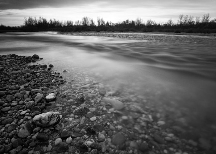 Landscapes Greeting Card featuring the photograph Restless River by Davorin Mance