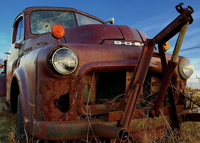 Truck Greeting Card featuring the photograph Retirement Has Not Been Good by Chuck De La Rosa