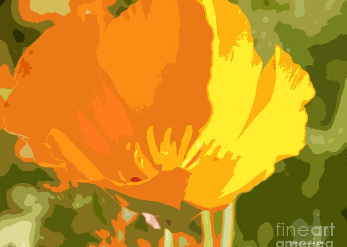 Bstract California Poppies Photographs Greeting Card featuring the photograph Retro Abstract Poppies 2 by Artist and Photographer Laura Wrede