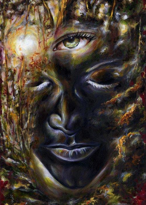 Eye Greeting Card featuring the painting Revelation by Hiroko Sakai