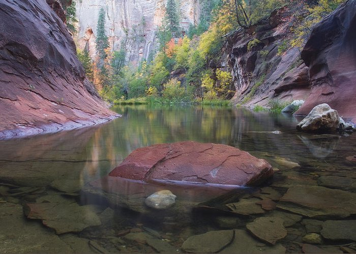 West Fork Oak Creek Canyon Greeting Card featuring the photograph Revisited by Peter Coskun