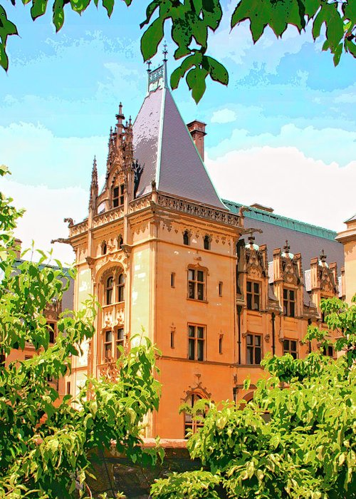 Asheville Greeting Card featuring the photograph Revival Biltmore Asheville Nc by William Dey