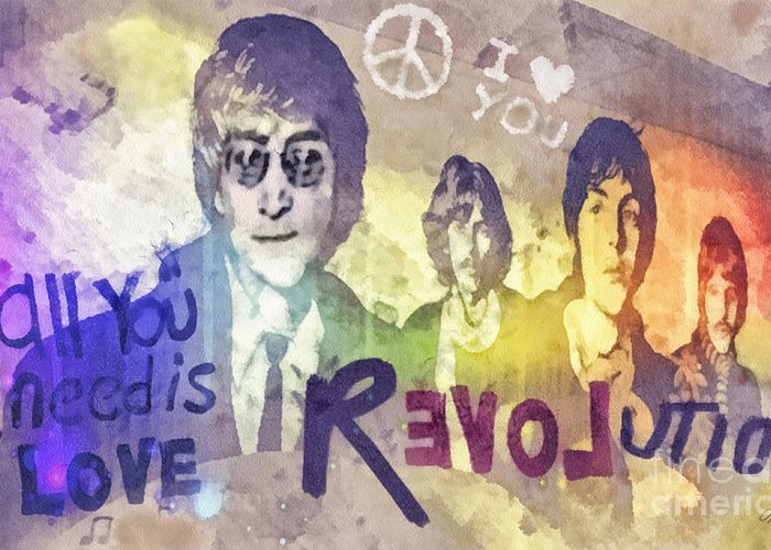 Revolution Greeting Card featuring the mixed media Revolution by Mo T