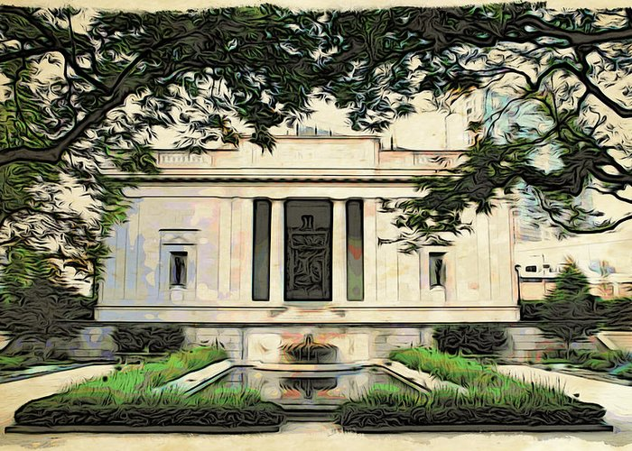 Philadelphia Greeting Card featuring the photograph Rhodin Garden View by Alice Gipson
