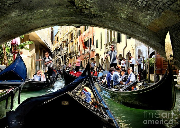 Canals Greeting Card featuring the photograph Rhythm Of Venice by Jennie Breeze