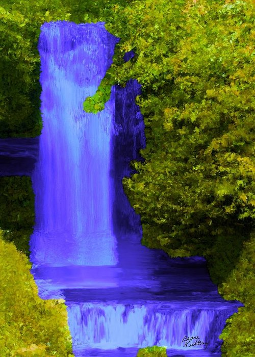 Purple Greeting Card featuring the painting Rich Purple Wateful In The Spring by Bruce Nutting