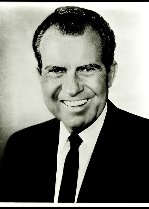 President Greeting Card featuring the photograph Richard M Nixon by Benjamin Yeager