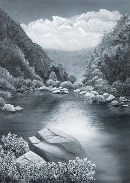 Ozarks Greeting Card featuring the painting Richland Creek by Garry McMichael
