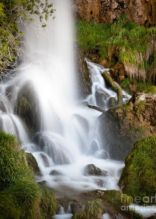 Landscape Greeting Card featuring the photograph Rifle Falls by Steven Reed