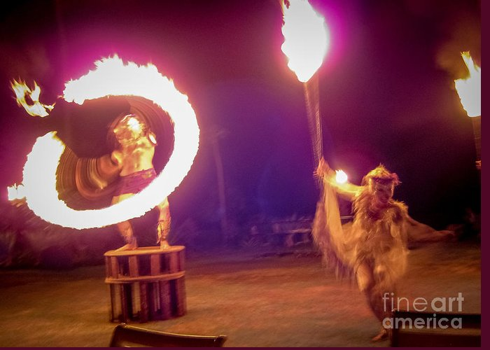 Dance Greeting Card featuring the photograph Ring Of Fire by Chuck Spang