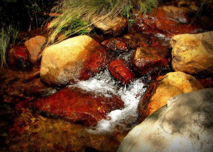 Sangre De Cristo Mountains Greeting Card featuring the photograph Rio En Medio Boulder Falls by Aaron Burrows