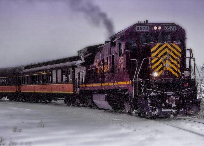 Train Greeting Card featuring the photograph Rio Grande Scenic Railroad by Ellen Heaverlo