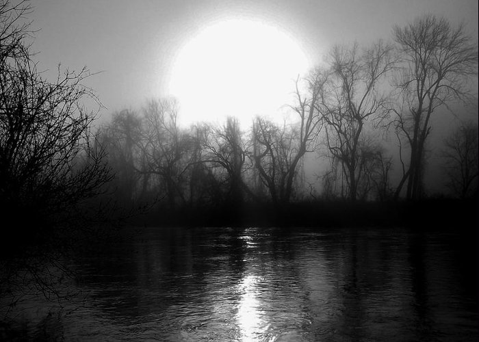 Greeting Card featuring the photograph Rise On The French Broad by Hominy Valley Photography