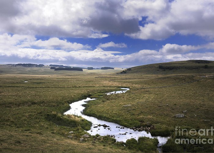 Outdoors Greeting Card featuring the photograph River In A Landscape by Bernard Jaubert