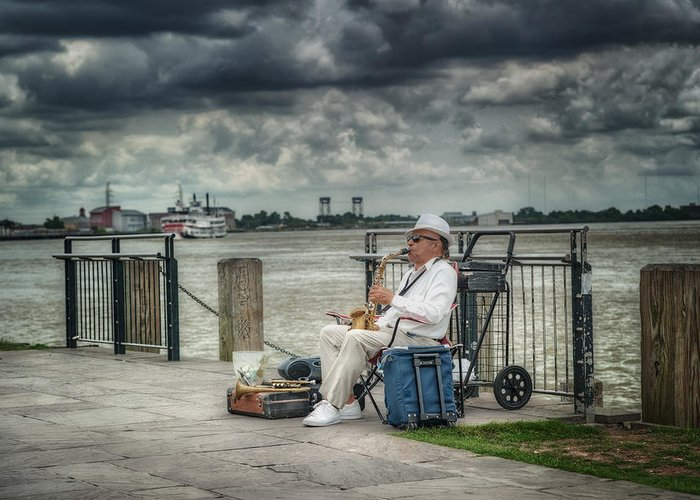 New Orleans Greeting Card featuring the photograph River Serenade by Brenda Bryant