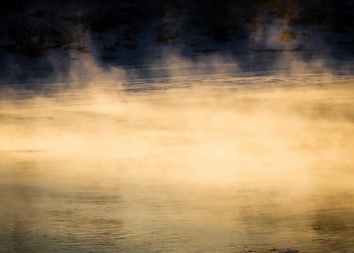 Nature Greeting Card featuring the photograph River Smoke by Bob Orsillo