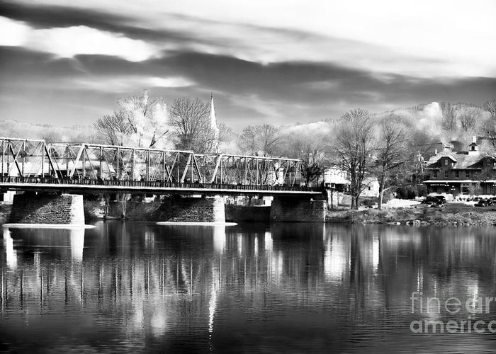 River View In New Hope Greeting Card featuring the photograph River View In New Hope by John Rizzuto