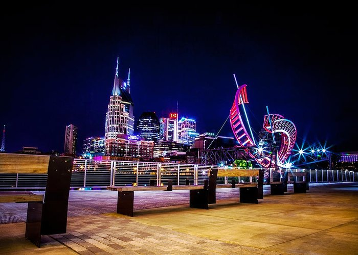 Nashville Greeting Card featuring the photograph Riverfront Vista by Lucas Foley