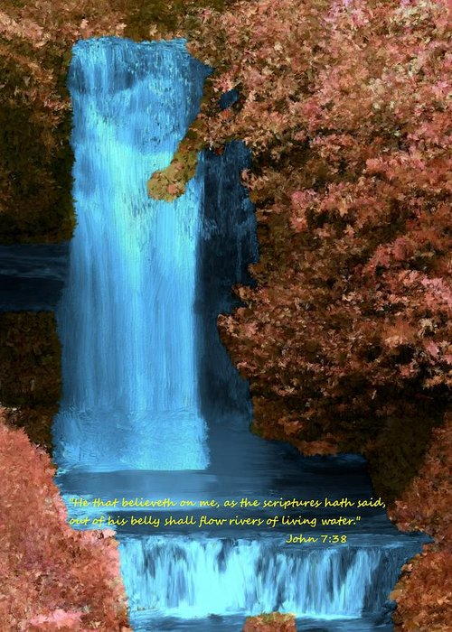 Inspirational Greeting Card featuring the painting Rivers Of Living Water by Bruce Nutting