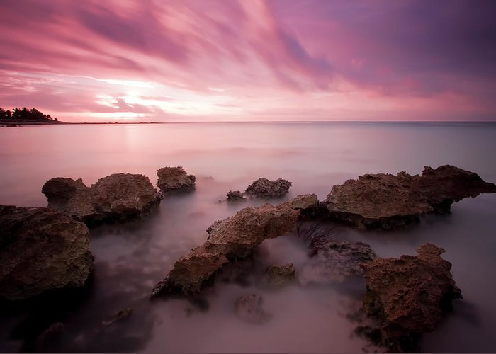 3scape Photos Greeting Card featuring the photograph Riviera Maya Sunrise by Adam Romanowicz