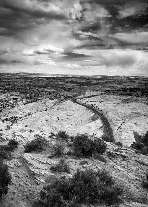 Utah Greeting Card featuring the photograph Road In The Desert by Andrew Soundarajan