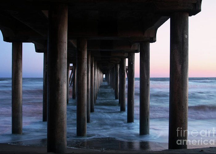 Huntington Beach Pier Greeting Card featuring the photograph Road To Heaven by Mariola Bitner