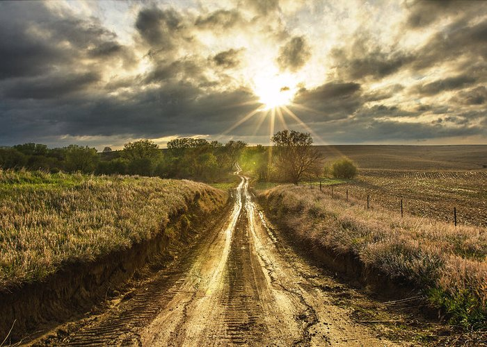 Road To Nowhere Greeting Card featuring the photograph Road To Nowhere by Aaron J Groen