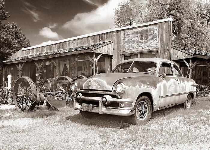 Antiques Greeting Card featuring the photograph Roadside Antiques by John Anderson