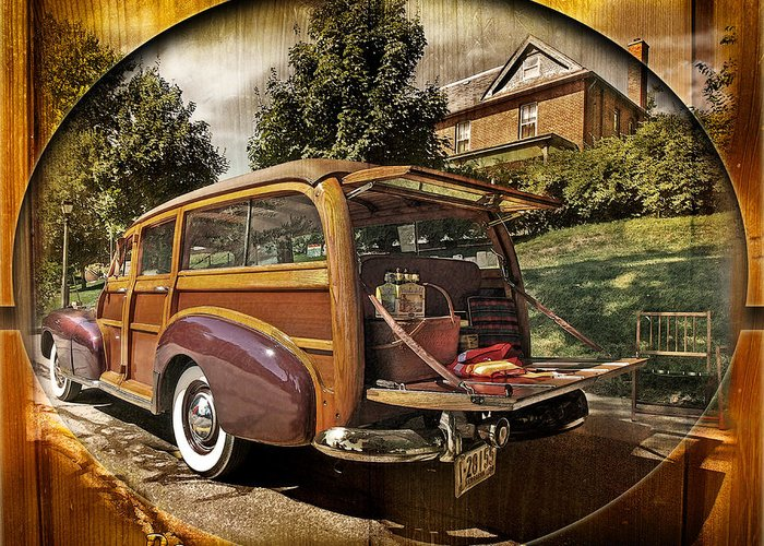 Cars Greeting Card featuring the photograph Roadside Picnic by John Anderson