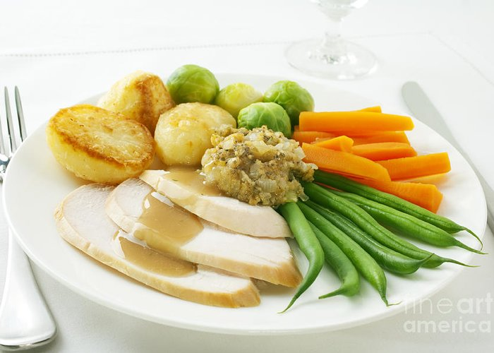 Chicken Greeting Card featuring the photograph Roast Chicken Dinner by Colin and Linda McKie