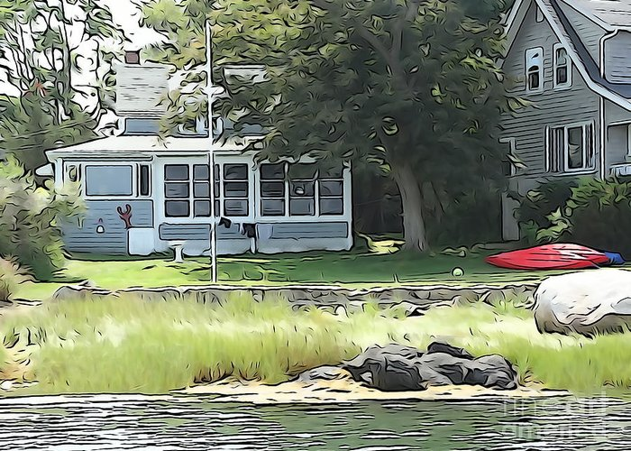 Cottage Greeting Card featuring the photograph Robbin's Island Cottage by Phil Campanella