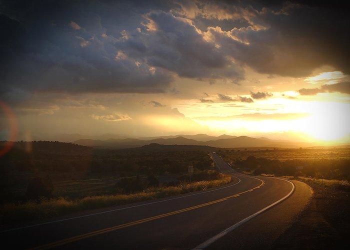 Landscape Greeting Card featuring the photograph Robert Melvin - Fine Art Photography - Arizona Sunset by Robert Melvin