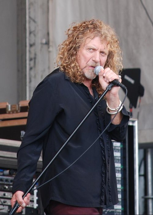 Robert Plant Greeting Card featuring the photograph Robert Plant by Pamela Schreckengost