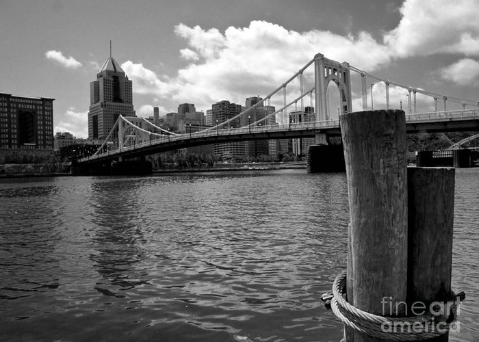 6th Street Bridge Greeting Card featuring the photograph Roberto Clemente Bridge Pittsburgh by Amy Cicconi