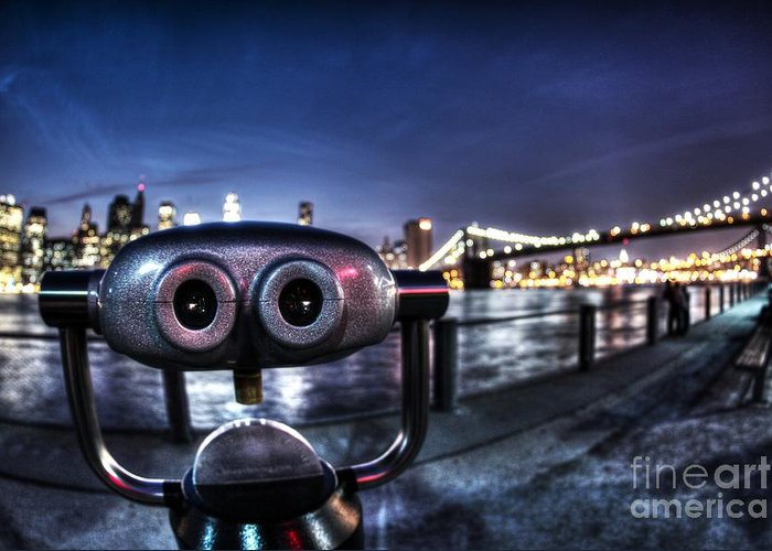 Telescope Greeting Card featuring the photograph Robot Views by Andrew Paranavitana