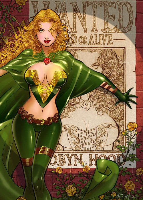 Grimm Fairy Tales Greeting Card featuring the drawing Robyn Hood 03e by Zenescope Entertainment