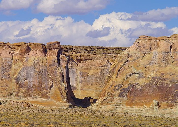 Views Greeting Card featuring the photograph Rock Formations At Capital Reef by Jeff Swan