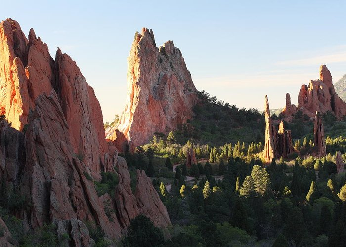 Colorado Greeting Card featuring the photograph Rock Of Ages by Eric Glaser