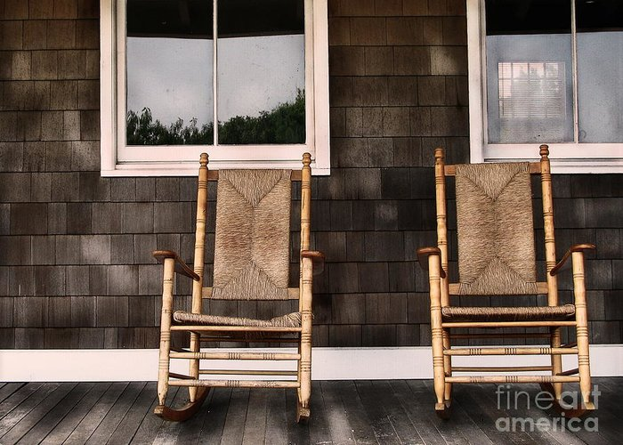 Rocking Chairs Greeting Card featuring the photograph Rock On by Colleen Kammerer
