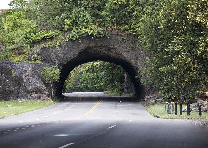 Rock Tunnel On Kelly Drive Greeting Card featuring the photograph Rock Tunnel On Kelly Drive by Bill Cannon