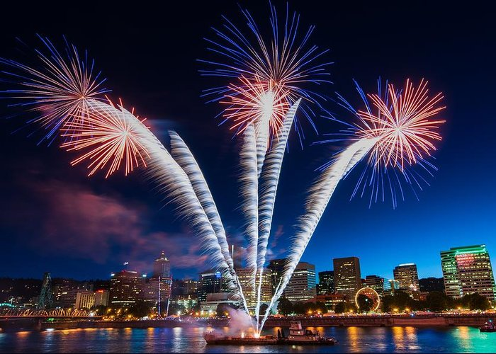 Fireworks Show Greeting Cards