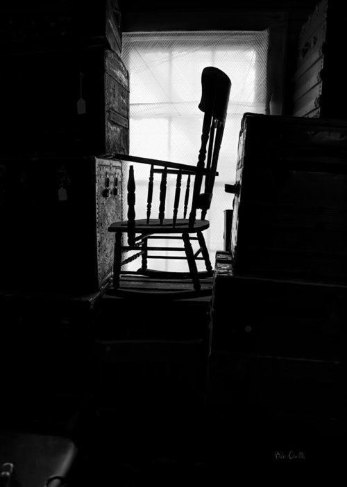 Chair Greeting Card featuring the photograph Rocking Chair by Bob Orsillo