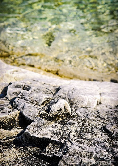 Rock Greeting Card featuring the photograph Rocks At Georgian Bay by Elena Elisseeva