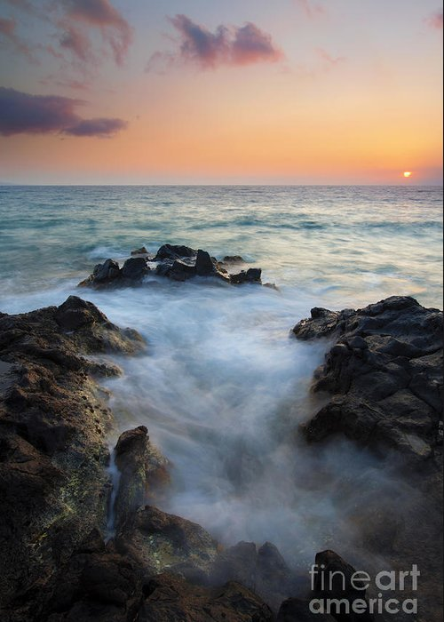 Inlet Greeting Card featuring the photograph Rocky Inlet Sunset by Mike Dawson