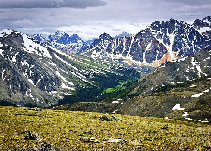 Mountains Greeting Card featuring the photograph Rocky Mountains In Jasper National Park by Elena Elisseeva
