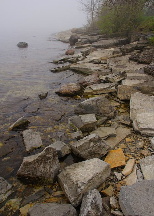 Nature Greeting Card featuring the photograph Rocky Shore 2 by Jim Vance