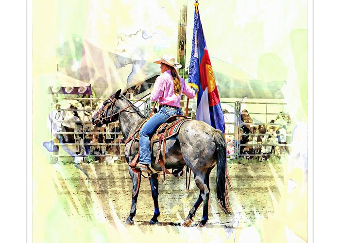 Rodeo Greeting Card featuring the photograph Rodeo Time In Colorado by Larisa Porter