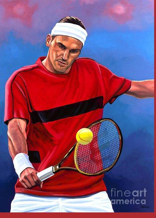 Roger Federer Greeting Cards