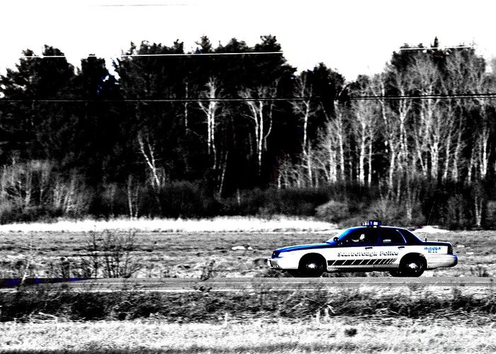Police Greeting Card featuring the photograph Roll On 1 by Lloyd Alexander